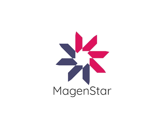 Abstracte cirkel ster logo sjabloon