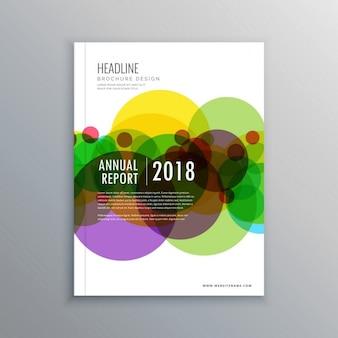 Abstracte cirkels zakelijke brochure sjabloon