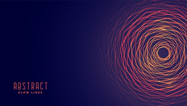Abstracte cirkelvormige gloeiende lijnenachtergrond