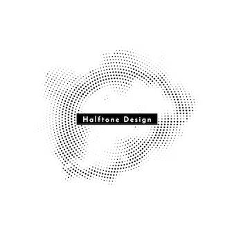 Abstracte cirkelvormige halftone ontwerp achtergrond vector