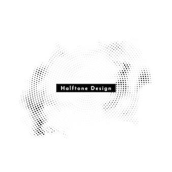 Abstracte cirkelvormige halftone ontwerpachtergrond Gratis Vector