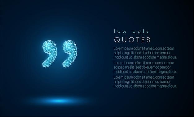Abstracte citaten. laag poly-stijl ontwerp.
