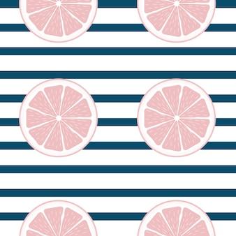 Abstracte citrus naadloze patroon achtergrond