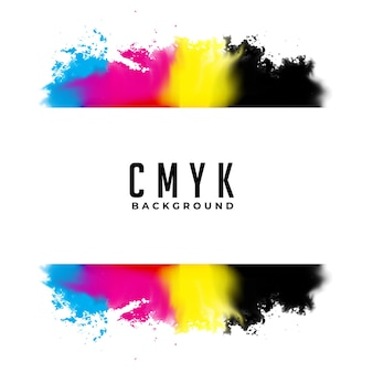 Abstracte cmyk-aquarel splatter achtergrond