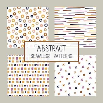 Abstracte collage naadloze patronen instellen.