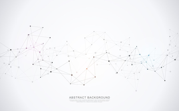 Abstracte communicatieachtergrond met lijnen en punten