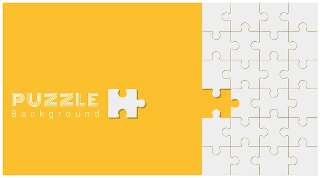 Abstracte conceptuele achtergrond met onvolledige puzzel