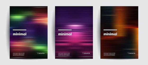 Abstracte covers met bewegingsverloop wazige kleuren