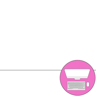 Abstracte creatief concept vector achtergrond. lijn pictogrammen platte ontwerpelementen. moderne vector illustratie pictogram van computer.