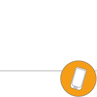 Abstracte creatief concept vectorillustratie van moderne mobiele telefoon. lijn pictogrammen. platte ontwerppictogram.