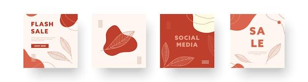 Abstracte creatieve achtergronden collecties. set minimale instagram trendy ontwerpsjablonen voor zakelijke sociale media-verhalen met schattige elementen. vector illustratie