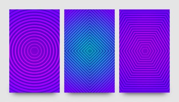 Abstracte creatieve patroon achtergronden