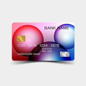 Abstracte creditcard met bubbels