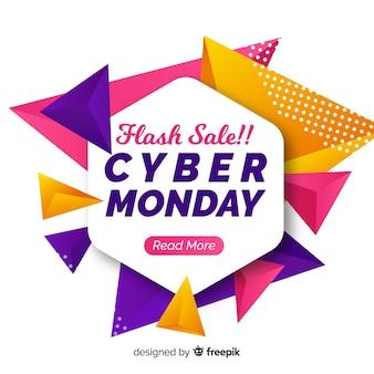 Abstracte cyber maandag verkoop achtergrond