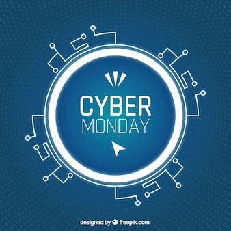 Abstracte cyber maandagachtergrond