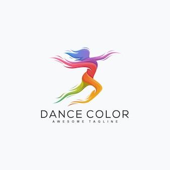 Abstracte dans kleur illustratie vector ontwerpsjabloon