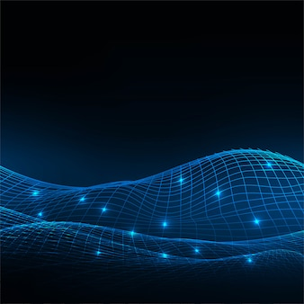 Abstracte de draad blauwe achtergrond van de technologiedraad