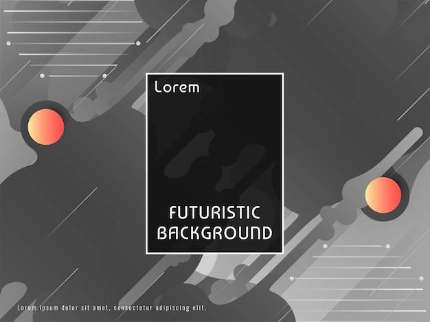Abstracte decoratieve futuristische techno vectorachtergrond