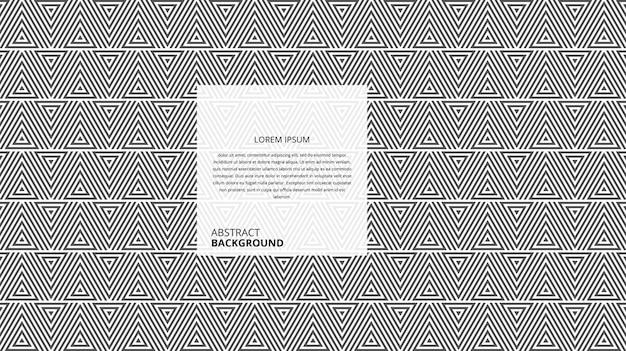Abstracte decoratieve horizontale driehoek lijnen patroon