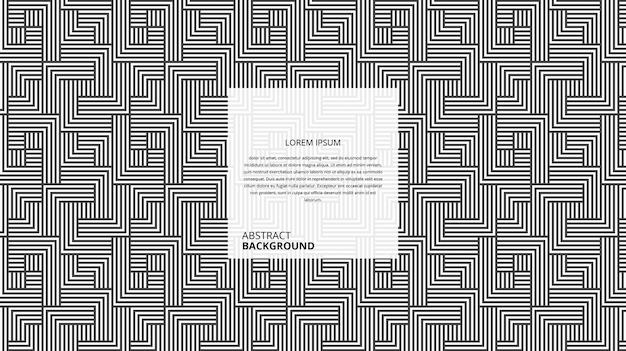 Abstracte decoratieve vierkante vorm strepen patroon