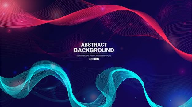 Abstracte deeltjesachtergrond.