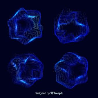 Abstracte deeltjesvorm set