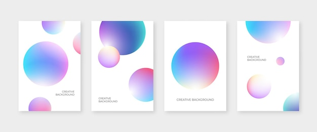 Abstracte dekking die met kleurrijke 3d cirkelvormen wordt geplaatst