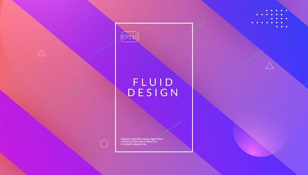 Abstracte dekking. futuristisch concept. violet levendige poster. 3d-geometrische flyer. commerciële uitnodiging. modern ontwerp. coole bestemmingspagina. mobiel papier. lila abstracte omslag