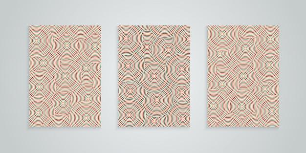 Abstracte dekking met kleurrijke cirkel