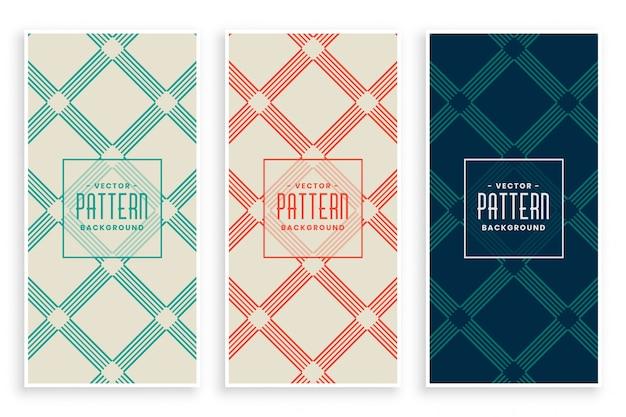 Abstracte diagonale lijnen geometrische patroon set
