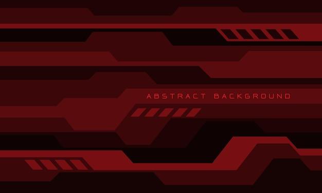 Abstracte dieprode geometrische cyber futuristische technologieachtergrond Premium Vector