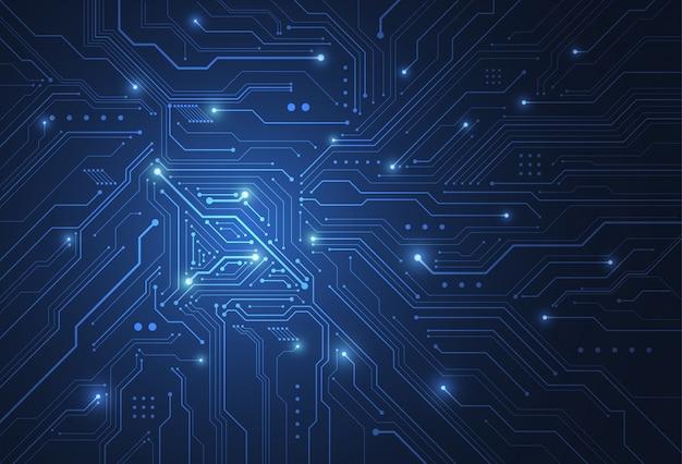 Abstracte digitale achtergrond met technologie printplaat textuur
