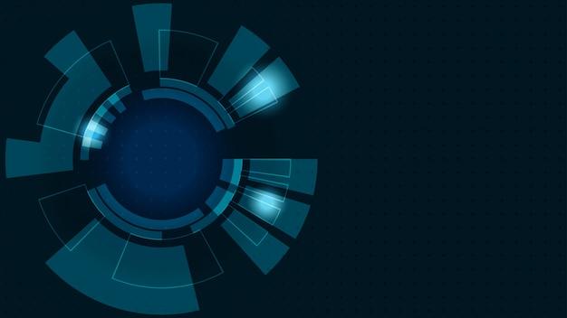 Abstracte digitale achtergrond. transformatie van bedrijfsgroei naar digitale en succesvolle financiële technologie.