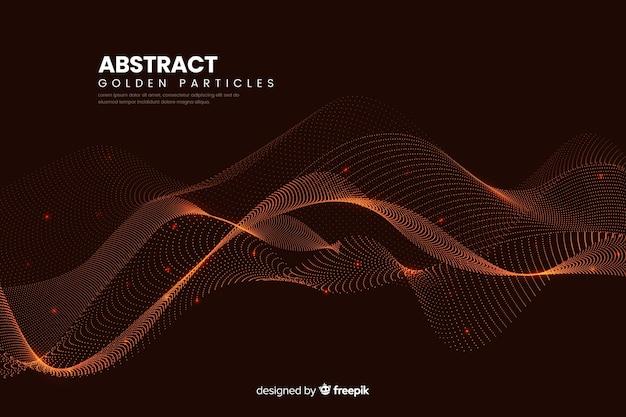 Abstracte digitale deeltjes golven achtergrond