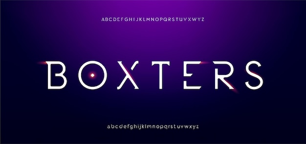 Abstracte digitale futuristische moderne alfabetlettertypen