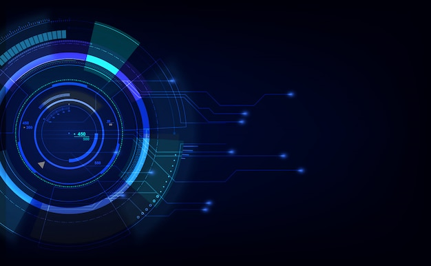 Abstracte digitale hi-tech technologie innovatie achtergrond