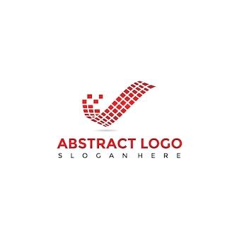 Abstracte digitale logo sjabloon