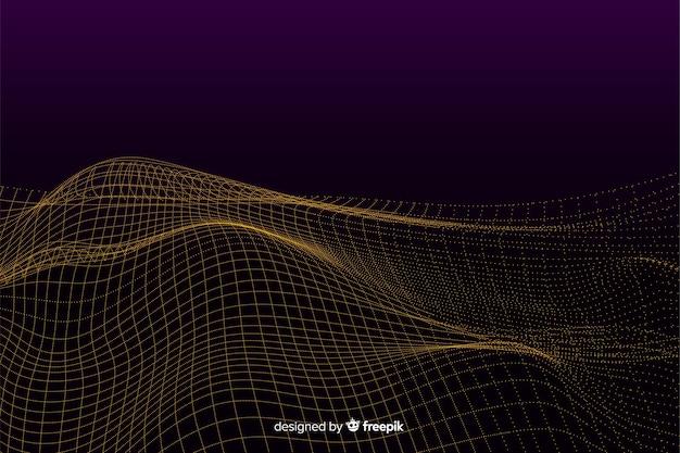 Abstracte digitale mesh golven achtergrond