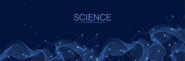 Abstracte digitale netwerkverbindingen blauwe achtergrond. kunstmatige intelligentie en engineering technologie concept. wereldwijd netwerk big data, lines plexus, minimale array. vector illustratie.