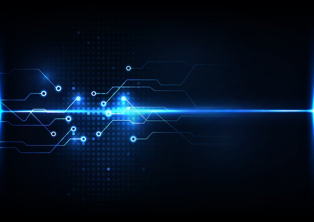 Abstracte digitale technologie circuit achtergrond
