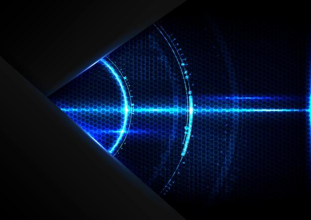 Abstracte digitale technologie toekomstige cyberspace interface-achtergrond