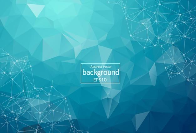 Abstracte donker blauwe veelhoekige ruimte achtergrond met aansluitende stippen en lijnen. verbindingsstructuur. vector wetenschap achtergrond. veelhoekige vector achtergrond. futuristische hud-achtergrond.