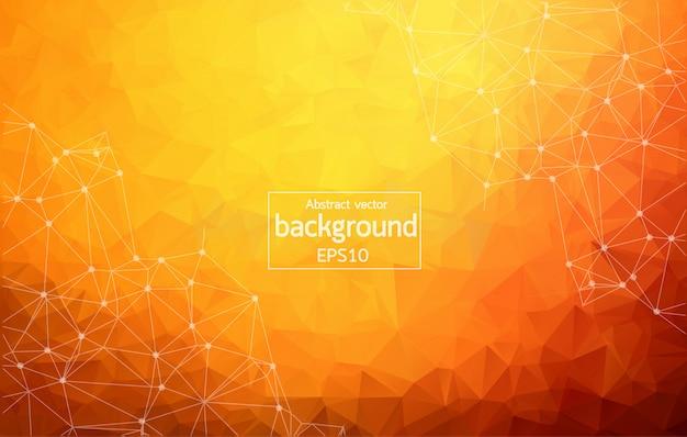 Abstracte donker oranje geometrische veelhoekige achtergrond