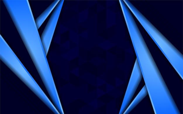 Abstracte donkerblauwe achtergrond met driehoekstextuur