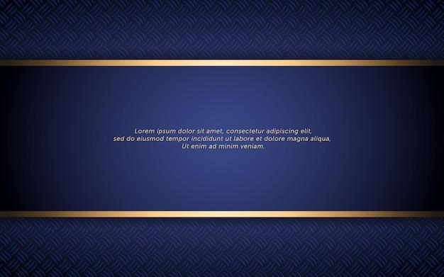Abstracte donkerblauwe achtergrond met gouden streep