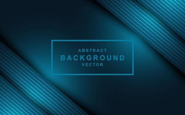 Abstracte donkerblauwe achtergrond met overlappende lagen