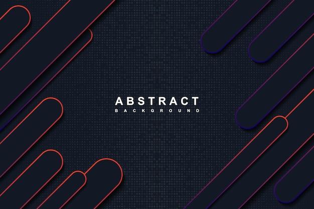 Abstracte donkerblauwe en gradiënt afgeronde vormen achtergrond