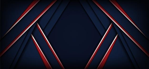Abstracte donkerblauwe en rode achtergrond met diagonale lijnen
