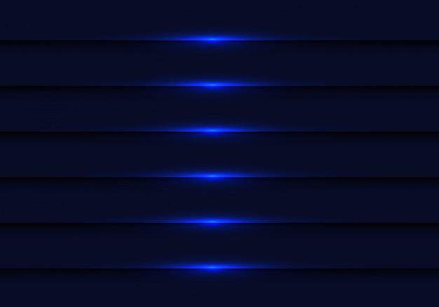 Abstracte donkerblauwe lichte metaalblindachtergrond.