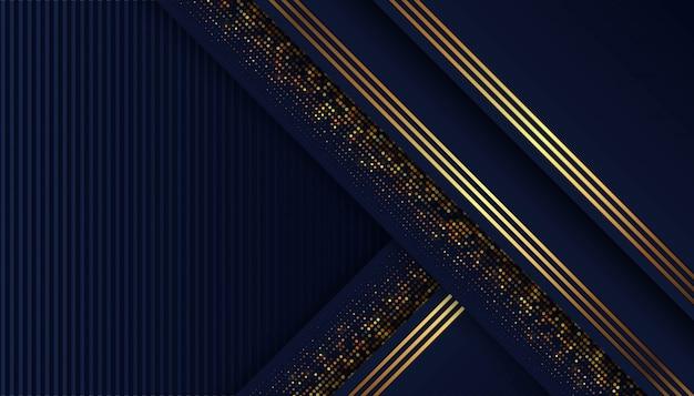 Abstracte donkerblauwe vorm met overlappingsachtergrond